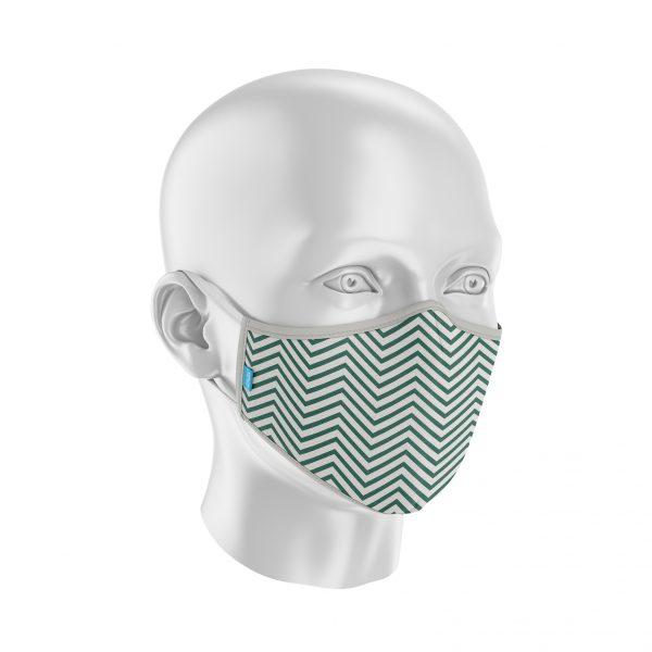 Máscara Protect Others 2.0 - Zig Zag Verde