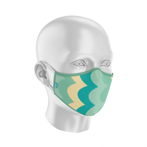 Máscara Protect Others 2.0 - Ondas Verticais
