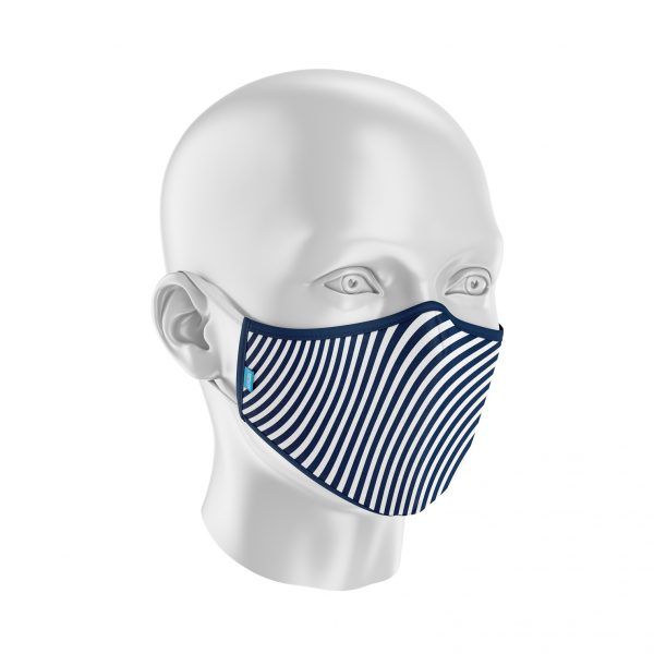 Máscara Protect Others 2.0 - Ondulado Azul